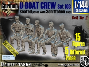 1/144 German U-Boot Crew Set103 in Smooth Fine Detail Plastic