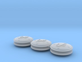 Lightning Warriors Shields with void x6 in Smooth Fine Detail Plastic