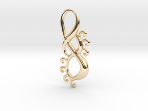 Sunny twist in 14k Gold Plated Brass