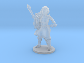 Female Caster with Base in Smooth Fine Detail Plastic