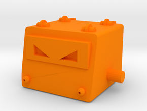 Omegatron Head in Orange Processed Versatile Plastic