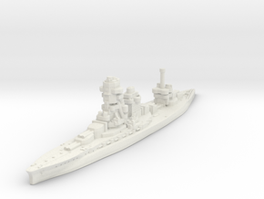 Ise Battleship-1942 (IJN) in White Natural Versatile Plastic