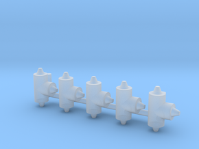 ø3.2mm Pipe Fittings T 5pc in Smooth Fine Detail Plastic