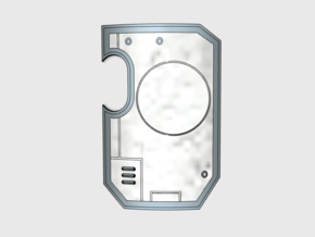 Vehicle Insignia-Ready: Marine Boarding Shields in Smooth Fine Detail Plastic: Small