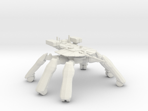 T-58A2 Main Battle Tank in White Natural Versatile Plastic: 1:400