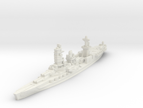 Ise Hybrid Battleship Carrier 1/1800 in White Natural Versatile Plastic