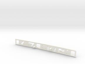 76/77 Celica LIFTBACK Emblem RA28 RA29 in White Processed Versatile Plastic