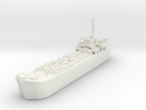 Landing Ship Tank LST 1/1200  in White Natural Versatile Plastic
