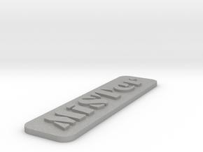 MiSTer Case Logo with Hard Edge in Aluminum