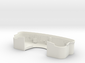 1/144 DKM Bismarck Shield 10.5m Rangefinder in White Natural Versatile Plastic