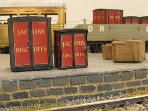 4mm Scale Jacob's Containers   in White Natural Versatile Plastic