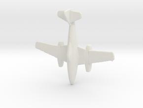 1:285  Messerschmitt Me-262 A-1a in White Natural Versatile Plastic