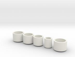 _3_Wheeldisplay-doppen in White Natural Versatile Plastic