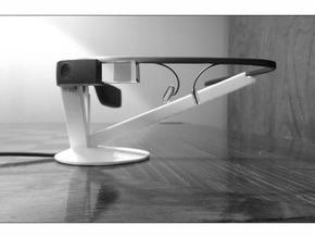 Google Glass Charging Stand in White Natural Versatile Plastic