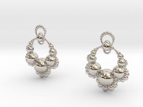 Jk OS Earrings in Platinum