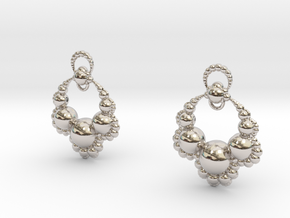 Jk OS Earrings in Rhodium Plated Brass