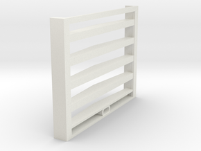 Grill-4-beams in White Natural Versatile Plastic