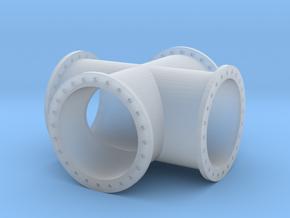 X-Stück Rohrleitung 1000mm x 2000mm - TT 1:120 in Smooth Fine Detail Plastic