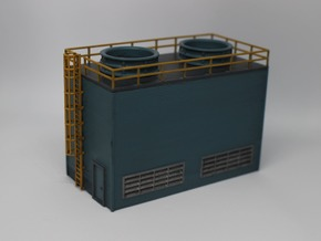 N Scale Large Chiller Part 1 (Walls) in Smooth Fine Detail Plastic