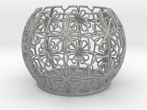 Tealight Holder Tiled Orb Indigo in Aluminum