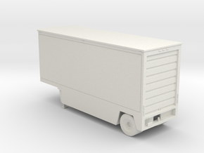 Drop Deck 28 Foot Trailer 1-87 HO Scale in White Natural Versatile Plastic