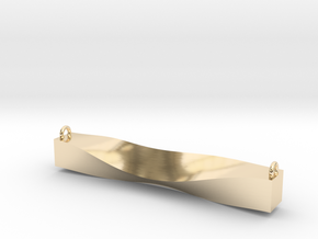 Cowl Bar Pendant in 14k Gold Plated Brass
