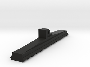 Bottom Rail for AUG Foregrip Attachment (13-Slots) in Black Premium Versatile Plastic