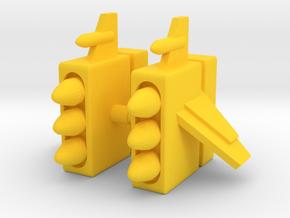 Centaurus Missile Pods in Yellow Processed Versatile Plastic