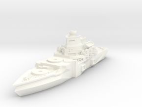 Meister Class Battleship in White Strong & Flexible Polished