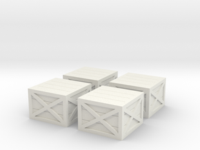 N Scale Wooden Crates in White Strong & Flexible: 1:160 - N