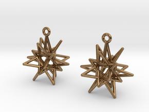 Starry Knight Earrings in Natural Brass