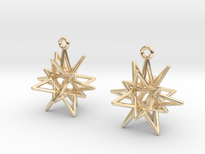 Stellar Drop Earrings in 14k Gold Plated
