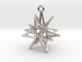 Stellar Drop Pendant in Rhodium Plated Brass