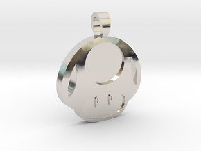 Toad  [pendant] in Rhodium Plated Brass
