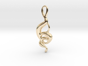 Dancing monkey  in 14k Gold Plated Brass