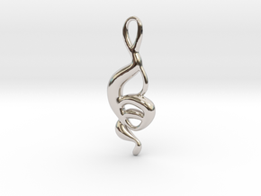 Dancing monkey  in Rhodium Plated Brass
