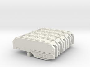 Armoured Sub-terrainian Breaching Vehicle Track in White Natural Versatile Plastic: Large