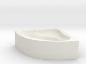 Jacuzzi Corner 01. O scale (1:48) in White Natural Versatile Plastic