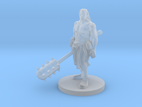 Half Orc Male Monk with Kanabo in Smooth Fine Detail Plastic
