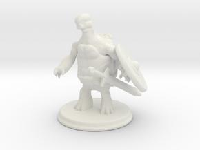 Tortle Barbarian in White Premium Versatile Plastic
