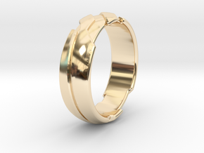GD Ring - Edge in 14k Gold Plated Brass: 1.5 / 40.5