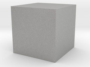 a cube of one cubic centimeter in Aluminum