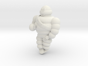 Michelin man 1/16 in White Natural Versatile Plastic