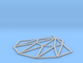 Low poly Doyenne Earring in Smooth Fine Detail Plastic