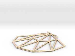 Low poly Doyenne Earring in 14k Gold Plated Brass