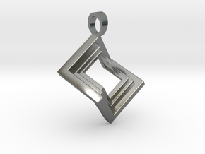 Pseudo cube [pendant] in Polished Silver