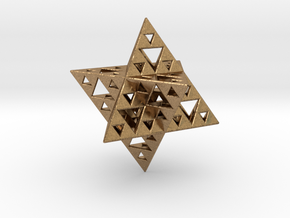 Sierpinski Merkaba IV level 3 1.5 cm (downloadable in Natural Brass