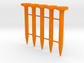 Super Max Golf Tee in Orange Processed Versatile Plastic