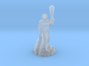 dragonborn sorcerer with greatclub in Smooth Fine Detail Plastic
