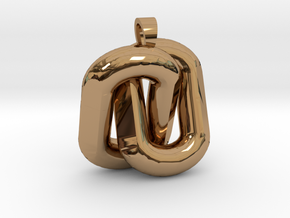 Two interlaced links  [pendant] in Polished Brass